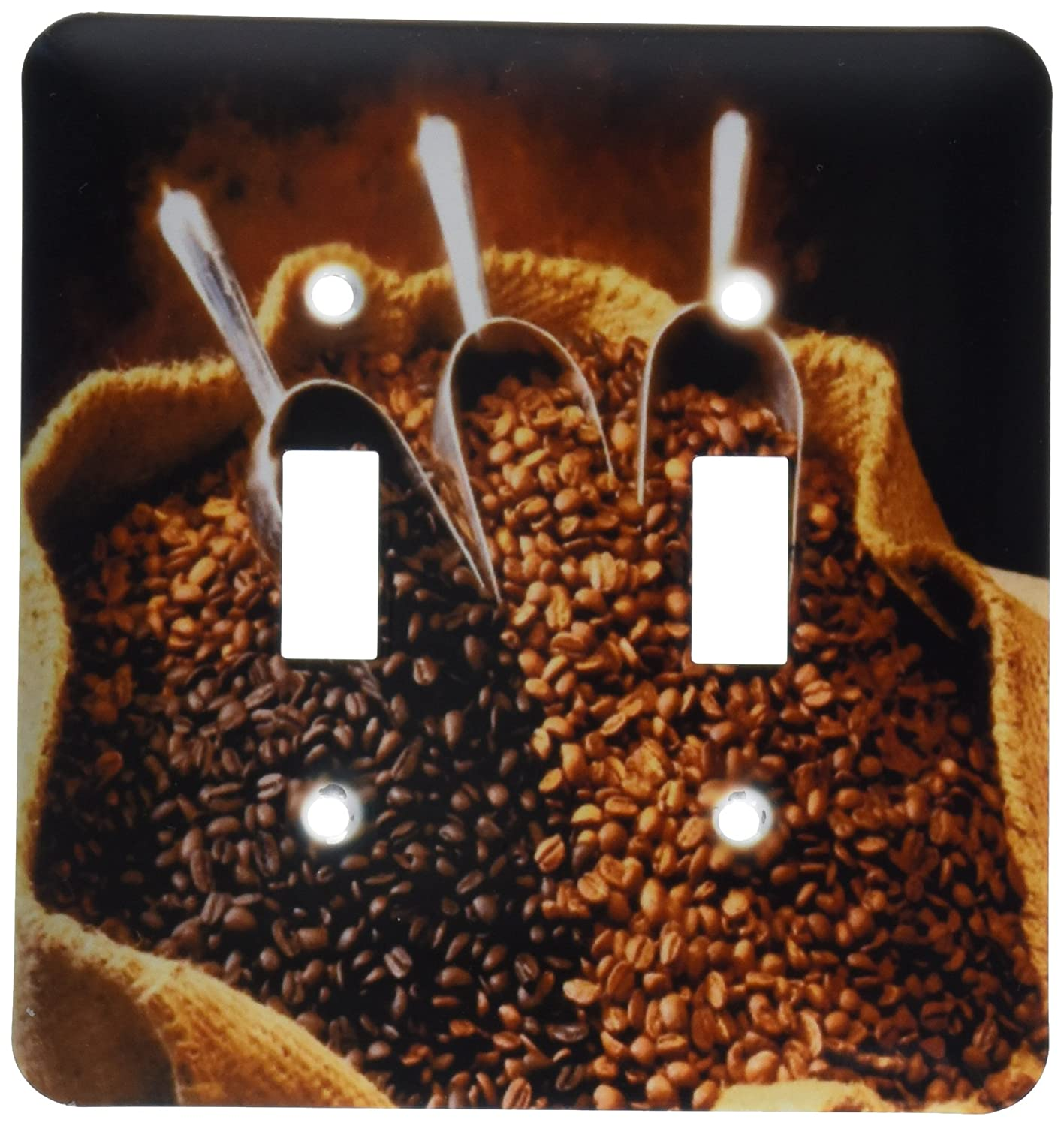 3dRose lsp_119309_2 Coffee Beans with Scoops Double Toggle Switch
