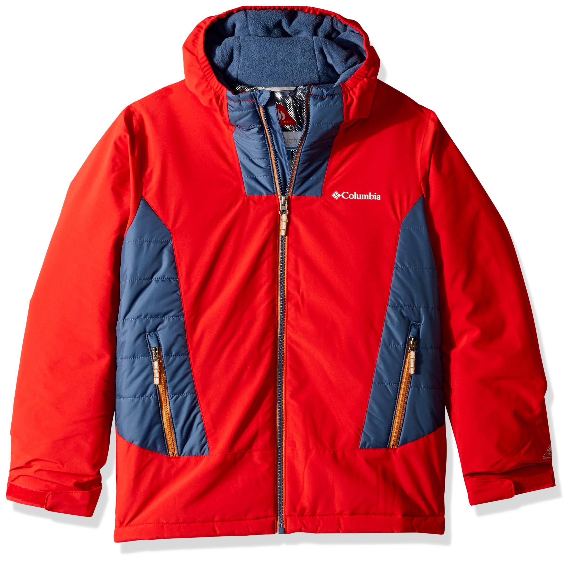 Columbia Big Boy's Wild ChildJacket, Medium, Red Spark/Dark Mountain