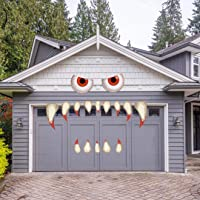 YEESEN Halloween Monster Face Decorations, Outdoor Garage Archway Door Window Car Halloween Party Decoration