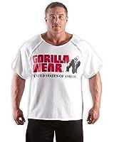 Gorilla Wear 90107 - Maglietta per body builder con logo e scritta Gorilla Wear, 80% cotone, 20% poliestere