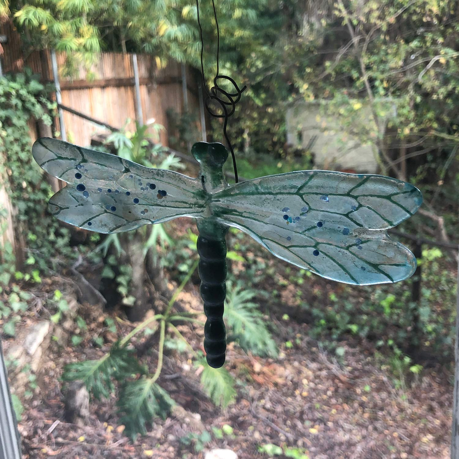 Wedding Present Iridescent Garden Decor Glass Dragonfly suncatcher