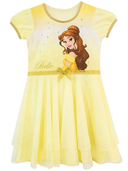 Disney Camisón para niñas La Bella y La Bestia