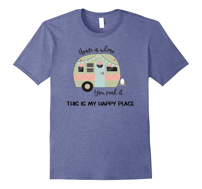 Cute Vintage Camp Trailer T Shirt- RV Retro Camper T Shirt-T-Shirt