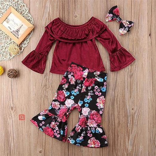 Amazon.com: Moda Ropa Femenina De Bebé Set 2 Unids Toddle ...