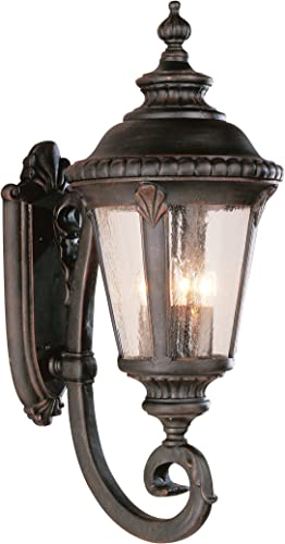 Bel Air Lighting Trans Globe Imports 5042 RT Traditional Four Light Wall Lantern from Commons Collection in Bronze Dark Finish, Rust