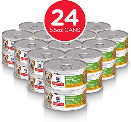 Hill's Science Diet Adult 7 Youthful Vitality Small, Mini Chicken Vegetable Stew Canned Dog Food
