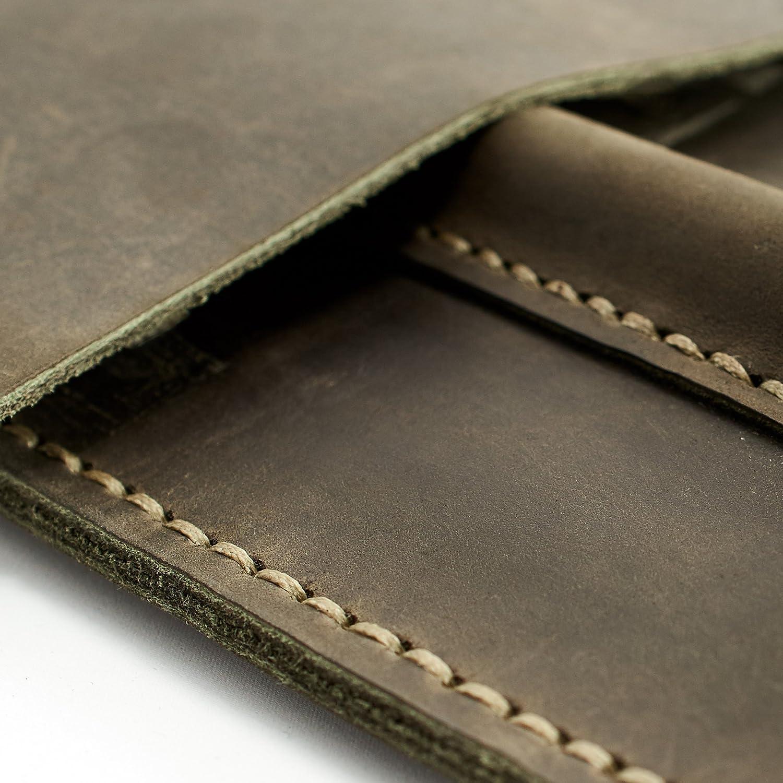 Green Google Pixelbook leather case, Chromebook leather sleeve, custom engraving mens gift. Google laptop leather folio // DRAFTSMAN 2