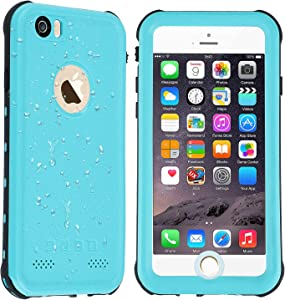 Co-Goldguard Waterproof Case iPhone 6s Plus / 6 Plus,[NOT for 6s/6] Built in Screen Protector with Touch ID IP68 Certified Underwater Cover,Green