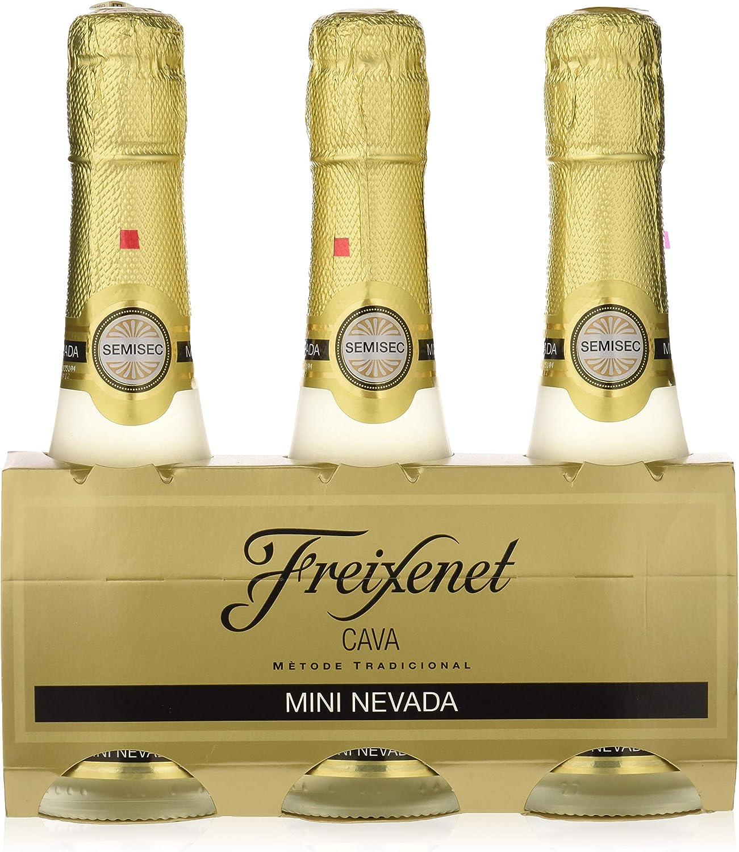 Freixenet Mini Nevada Cava Semiseco - Pack de 3 x 200 ml - Total: 600 ml: Amazon.es: Alimentación y bebidas