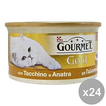 PURINA Set 24 Gourmet Tacchino-Anatra Cubos 85 Gr. Comida Para Gatos: Amazon.es: Productos para mascotas