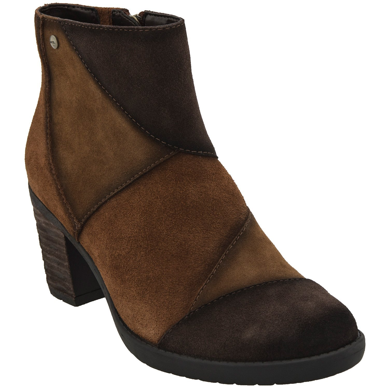 Earth Womens Malta Short Boot B005BE95JC 6.5 B(M) US|Cognac Multi Suede/Water Resistant