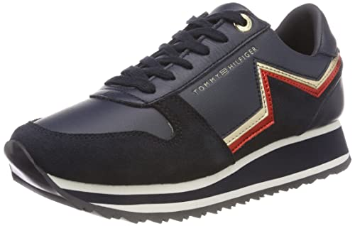 2cce8a051 Tommy Hilfiger Women's Tommy Star Retro Runner Low-Top Sneakers Blue (RWB  020)