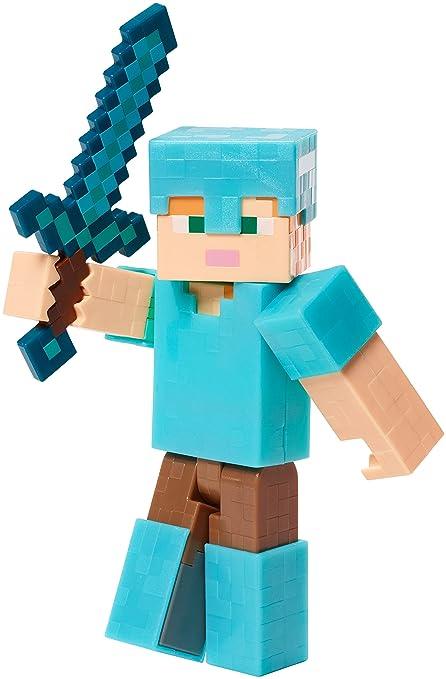Minecraft Alex In Diamond Armor Figure