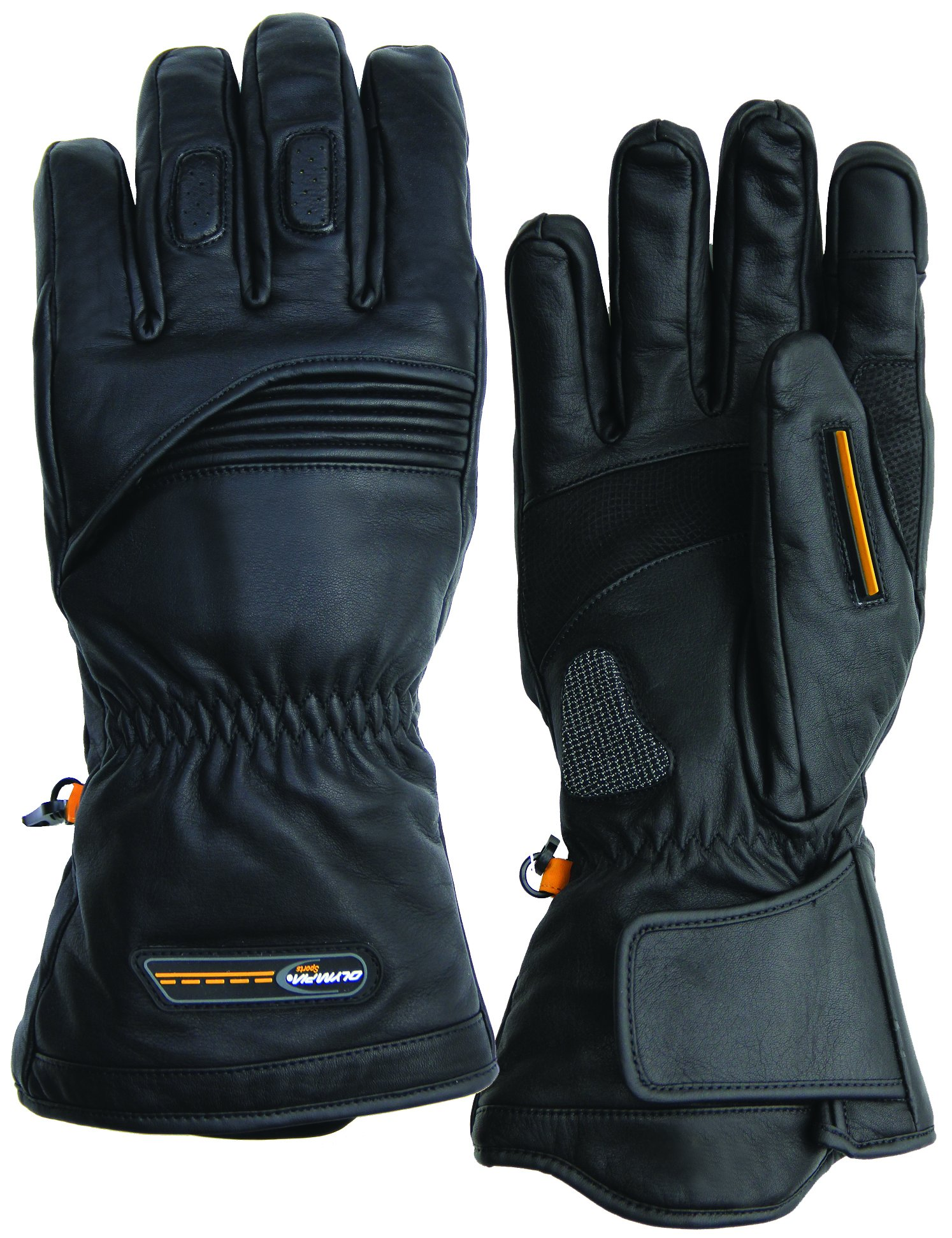 Olympia Sports Men's All Season II Touch Gloves (Black, Large)