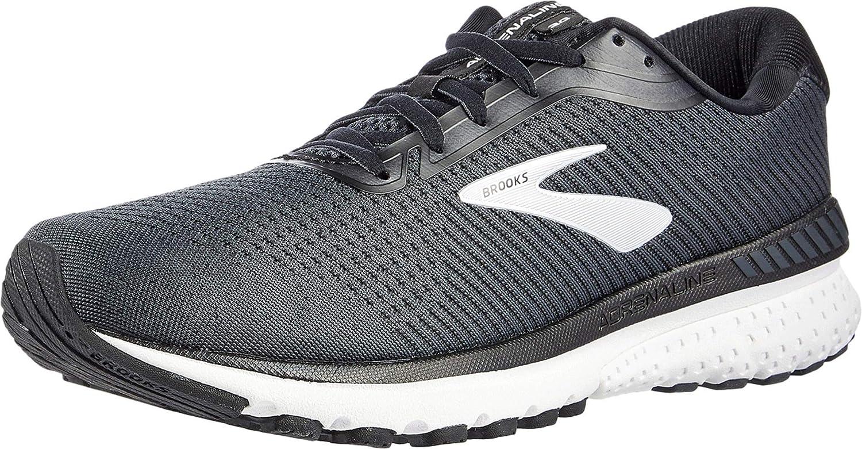 D 9.5 Brooks Mens Adrenaline GTS 20 Running Shoe Black//Grey//Ebony