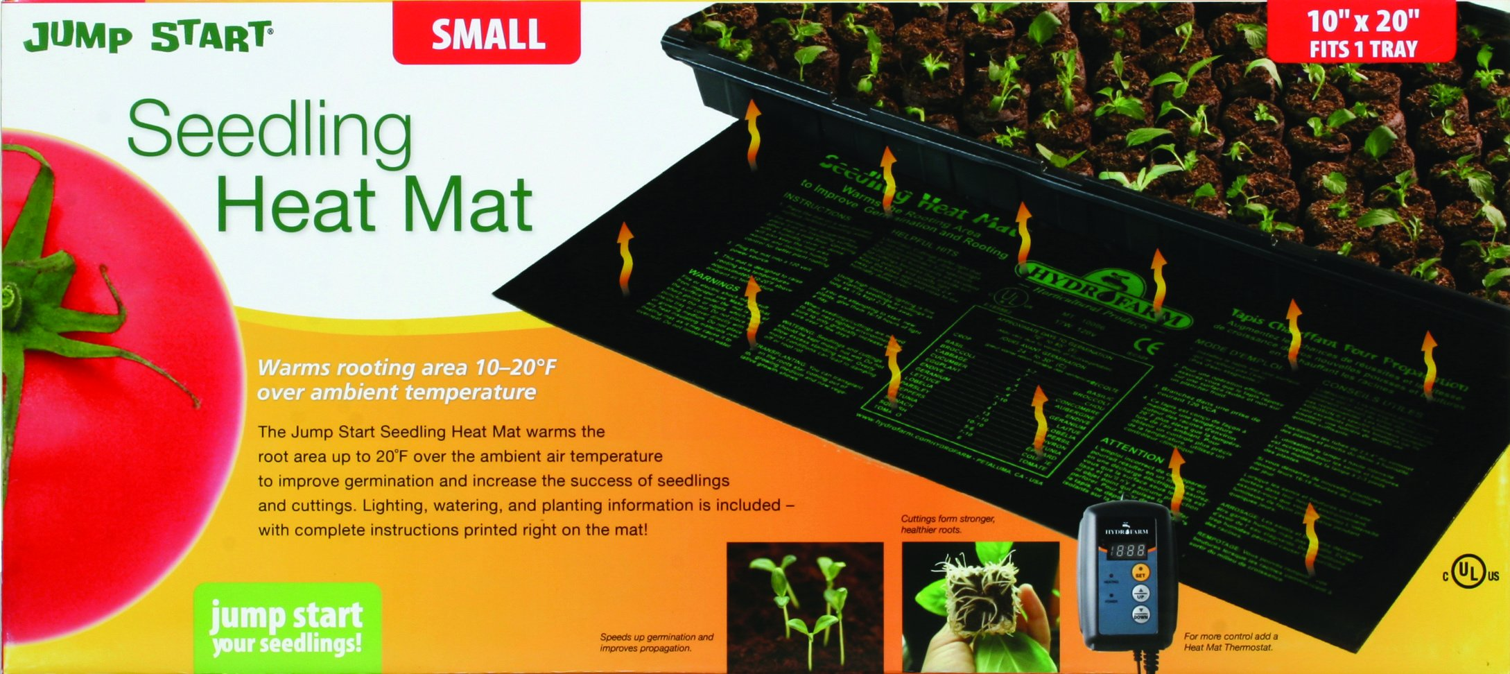Jump Start 9'' x 19 1/2'' Waterproof Seedling Heat Mat