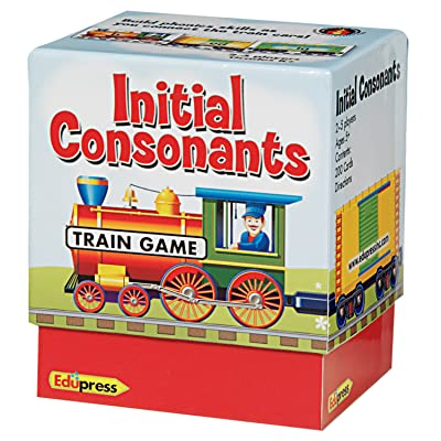 Edupress Phonics Train Game, Initial Consonants (EP62594) : Childrens Mathematics Learning Aids : Office Products