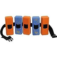 Arena Kinder Schwimmgürtel Flotation Belt JR 2, fast blue/peach orange, 3-6 Jahre