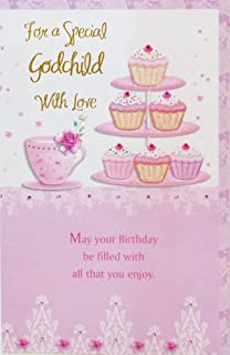 Amazon japanese pop up birthday greeting card birthday cake for a special godchild with love happy birthday greeting card for her wishing m4hsunfo