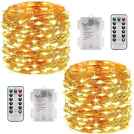 LED Lichterkette mit Fernbedienung Outdoor Weihnachtslichterkette,