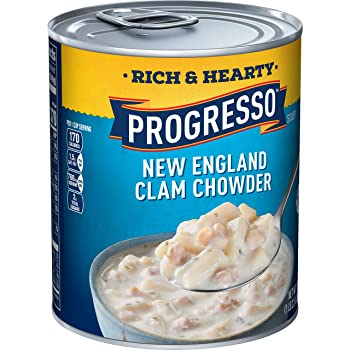 Progresso Soup, Rich & Hearty, New England Canned Clam Chowder