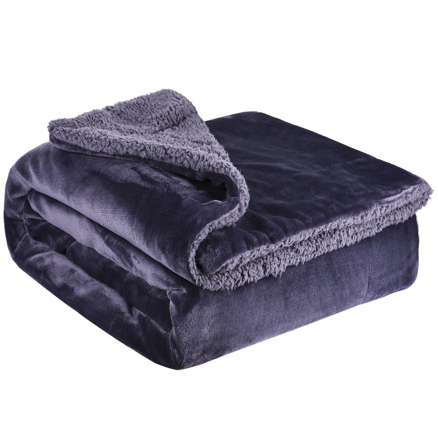Fleece Throw Blanket Twin Size - Fuzzy Sherpa Plush Queen Summer Throw Blanket for Couch Soft Comforter Heavy Weighted Couch Sofa Bed 60x80