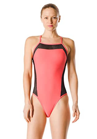 Speedo Turnz Mesh Flash Back One Piece Traje de baño de una ...