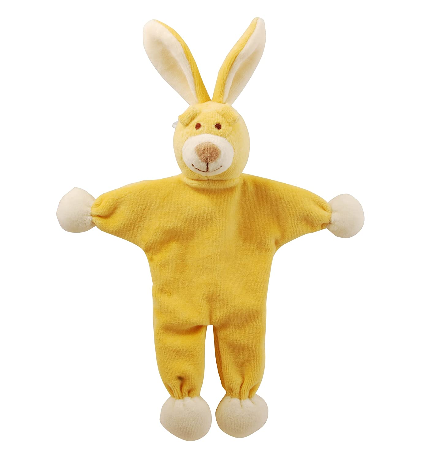 Simply Fido Lucy Bunny Stuffless Crinkle Paper Pet Toy, 9-Inch, Yellow
