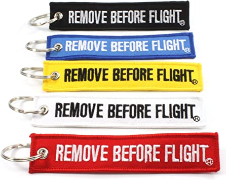 Rotary13B1 Remove Before Flight MULTI COLOR 5 Pack Key Chains