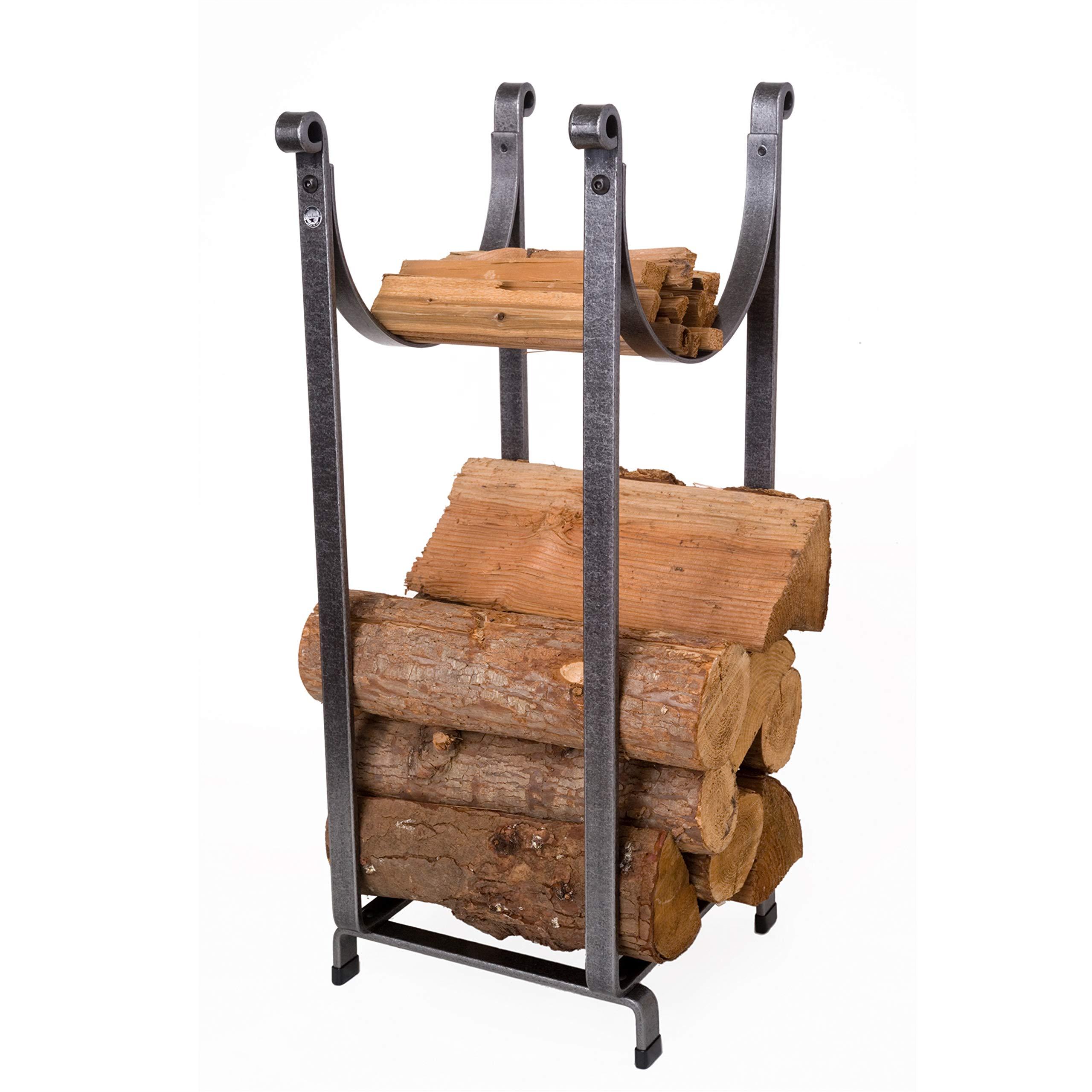Enclume Sling Log Rack, Hammered Steel by Enclume Hearth