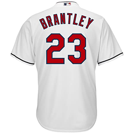 51a9e3cfb Majestic Michael Brantley Cleveland Indians #23 Youth Cool Base Home Jersey  White (Small 8