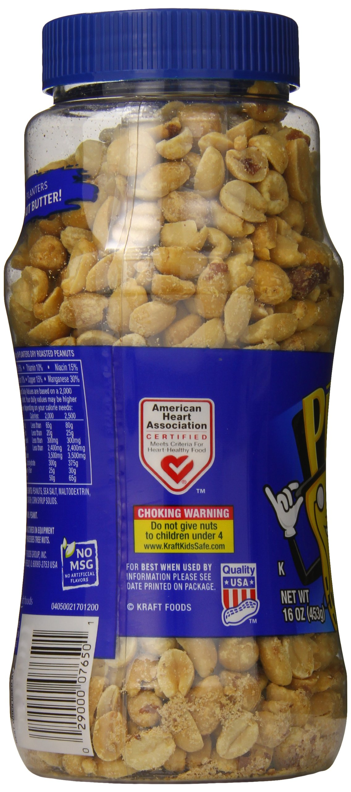 Planters Lightly Salted Dry Roasted Peanuts , 16 ounce (Pack of 4) by Planters (Image #2)