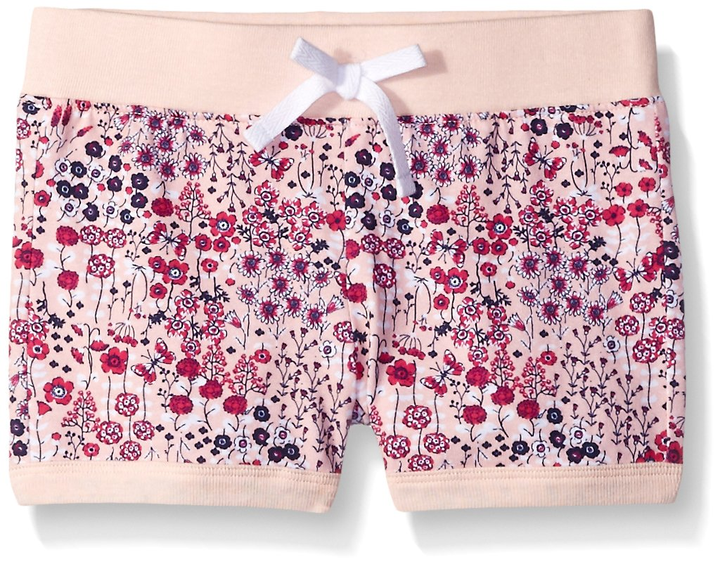 Scout + Ro Big Girls' Floral-Printed Knit Short, Gossamer Pink, 10