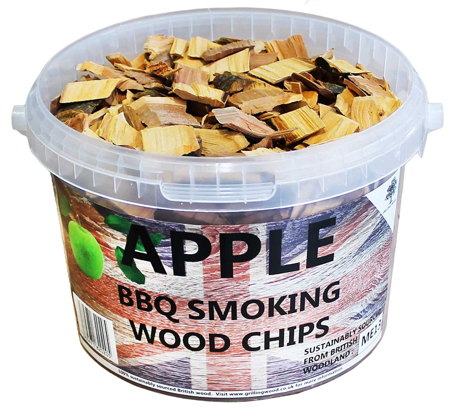 Litre bbq smoking british wood chips apple