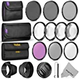 58MM Complete Lens Filter Accessory Kit (UV, CPL, FLD, ND2, ND4, ND8 and Macro Lens Set) for CANON EOS Rebel T6i T6 T5i T5 T4i T3i SL1 DSLR Camera
