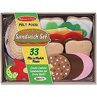 Melissa & Doug Felt Food Sandwich Play Food Set (33 pcs)