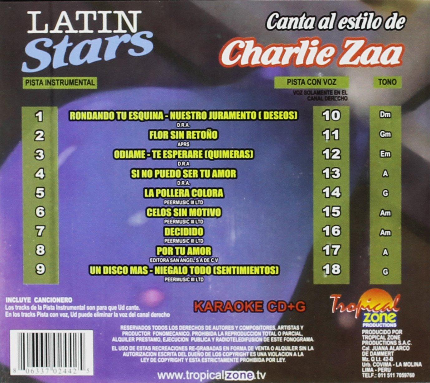 Charlie Zaa - Karaoke: Charlie Zaa - Latin Stars Karaoke - Amazon.com Music