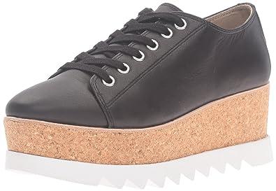 Steve Madden Women's Korrie Fashion Sneaker, Black Leather, ...