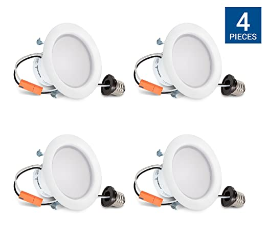 3000K Hyperikon 4 Inch LED Downlight Energy Star Ceiling Light Office Dimmable Soft White Glow 9W Great for Bathroom Kitchen CRI92 Retrofit LED Recessed Fixture 65W Equivalent