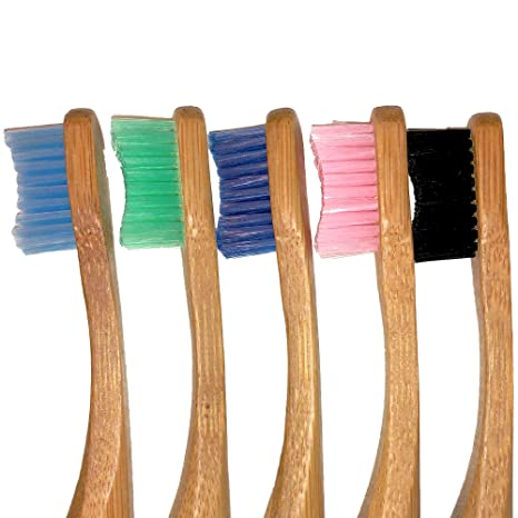Bamboo Panda - Cepillo de dientes de bambú para niños y adultos, cepillo de dientes