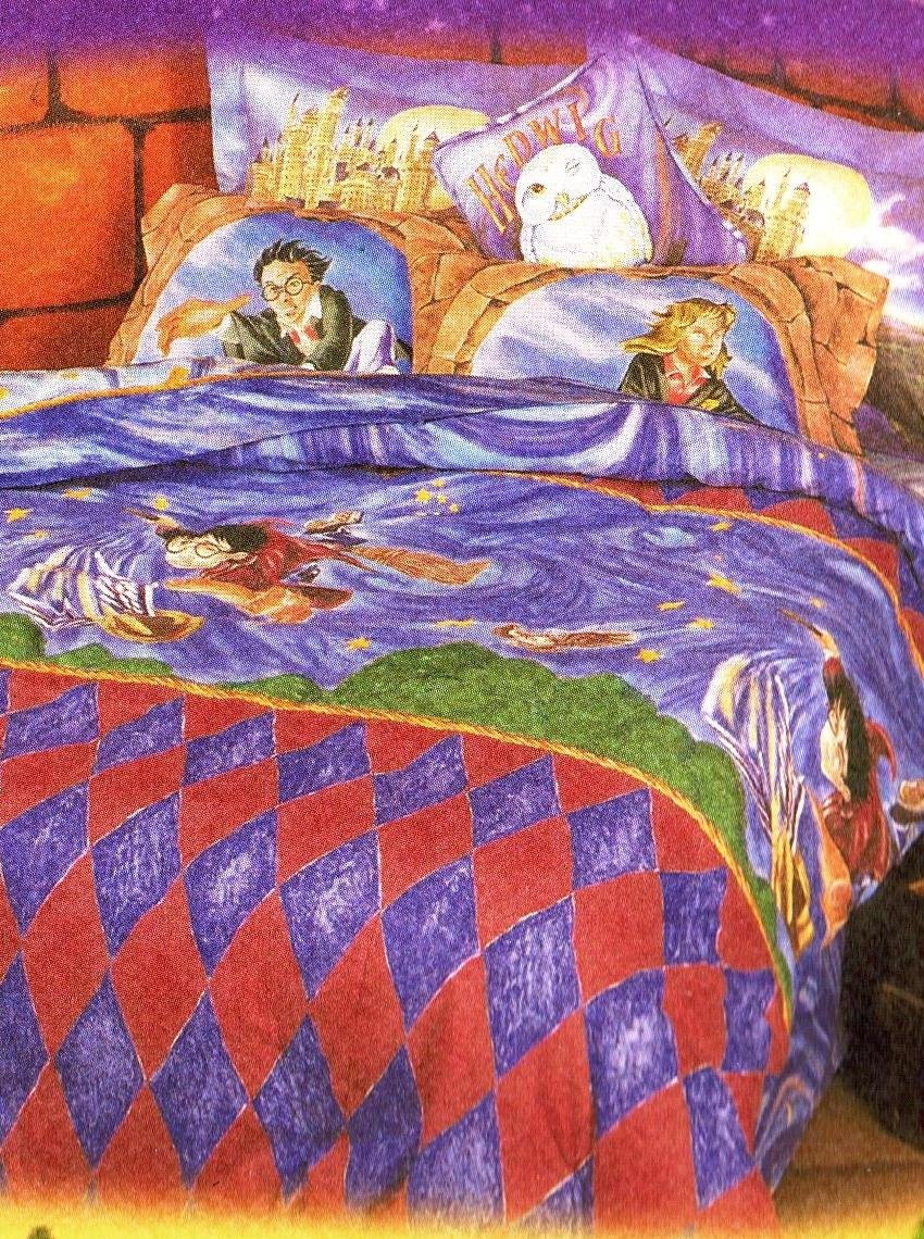 Harry Potter Twin Bedskirt Dust Ruffle ''Cloak of Dreams'' 2000 by Harry Potter, Warner Brothers (Image #2)