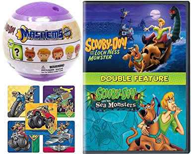 Amazon Com Creature Feature Scooby Doo Mystery Spooky Loch Ness Monster Sea Monster Cartoon Dvd Pack Soft Character Figure With Action Stickers Scooby Doo Movies Tv