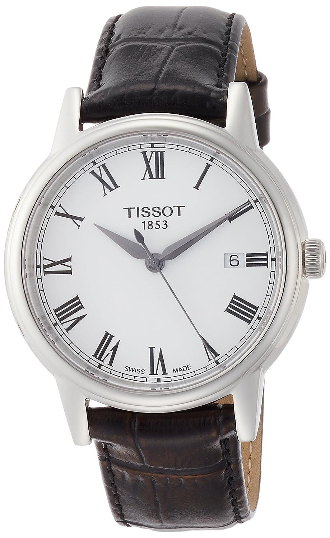 [ティソ] TISSOT 腕時計 カーソン クォーツ ホワイト文字盤 レザー T0854101601300 メンズ 【正規輸入品】 B00F3SJ6UE