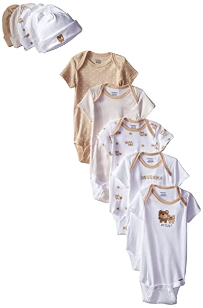 967d68a11 Amazon.com  Gerber Unisex-Baby Newborn Bear Onesies and Cap Bundle ...