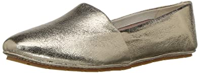 Kenneth Cole New York Women's Jordyn Moccasin Slip On Leather Loafer Flat,  Gold, 5
