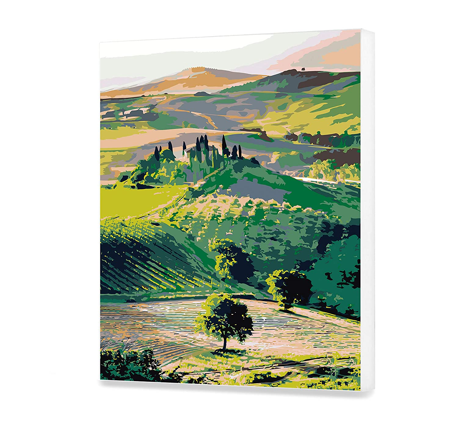Fields Acrylic Painting Home Decor Nature Paint By Numbers Painting Kit Trees Painting By Numbers Adults Sky Painting DIY Kit Painting DIY