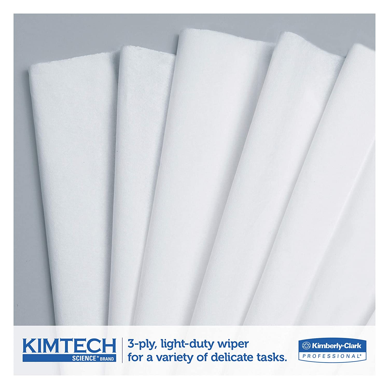 Amazon.com: Kimtech 34743 Kimwipes Delicate Task Wipers, 3-Ply, 11 4/5 x 11  4/5, 119 per Box (Case of 15 Boxes): Industrial & Scientific