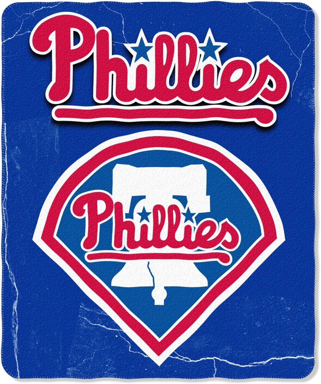 MLB Philadelphia Phillies Wicked Printed Fleece Throw, 50 x 60-inches