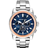 MICHAEL KORS Men's MK8598 Year-Round Chronograph Quartz Silver Band Watch