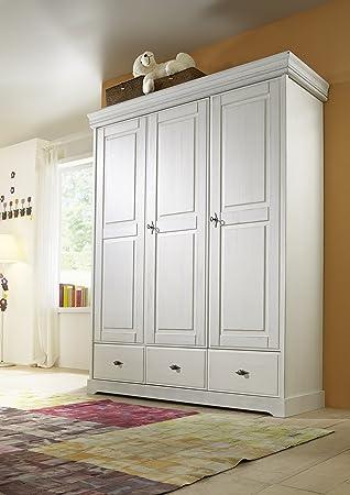 SAM® Kinderzimmer Kleiderschrank weiß Kiefer massiv 160 x 200 cm ...